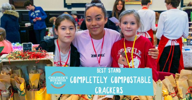 Completely Compostable Crackers Best Stand | Children's Business Fair UK